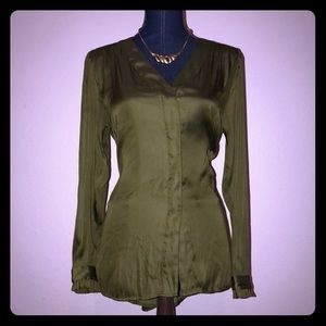 H&M CONSCIOUS Olive Green Blouse